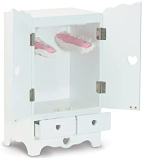 Melissa U0026 Doug 9384 White Wooden 20 Inches Tall Doll Armoire