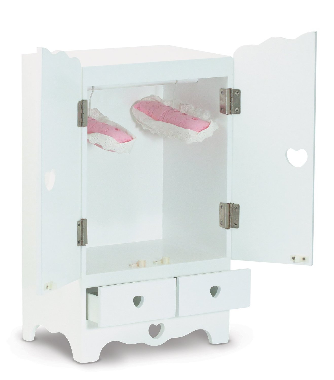 Charmant Amazon.com: Melissa U0026 Doug 9384 White Wooden 20 Inches Tall Doll Armoire:  Melissa U0026 Doug: Toys U0026 Games