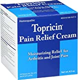 Topricin Pain Relief Cream Moisturizing Relief For Arthritis And Joint Pain, Cream 4 oz
