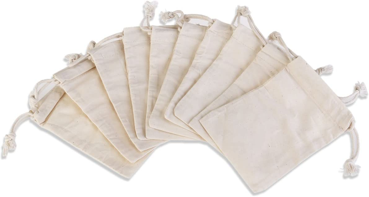 Rosenice - Bolsa de regalo de algodón con cordón, 10 unidades: Amazon.es: Bricolaje y herramientas