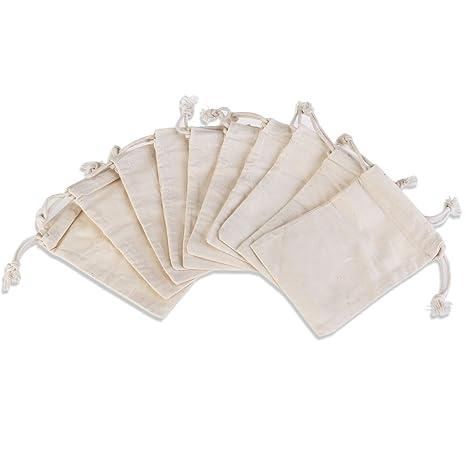 NUOLUX bolsas de muselina de algodón Mini cordón regalo ...