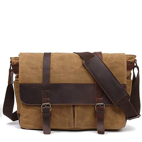 Men Messenger Bags Shoulder Crossbody For Ipad Khaki