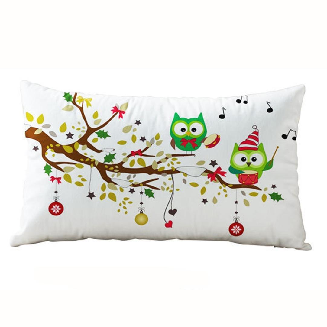 photno枕カバー3050 cmクリスマス長方形コットンLinter枕カバークッションカバー 30cm x 50cm レッド  I B01NCAIE68