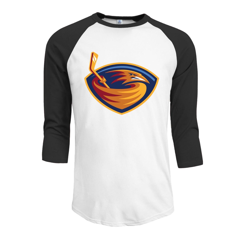 Amazon Custom Atlanta Thrashers Mens Half Sleeve Raglan T