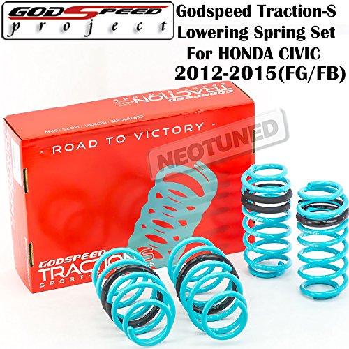 Godspeed (LS-TS-HA-0009) Traction-S Lowering Spring Set For Honda Civic 2012-2015 gsp set kit - Honda Civic Lowering Springs