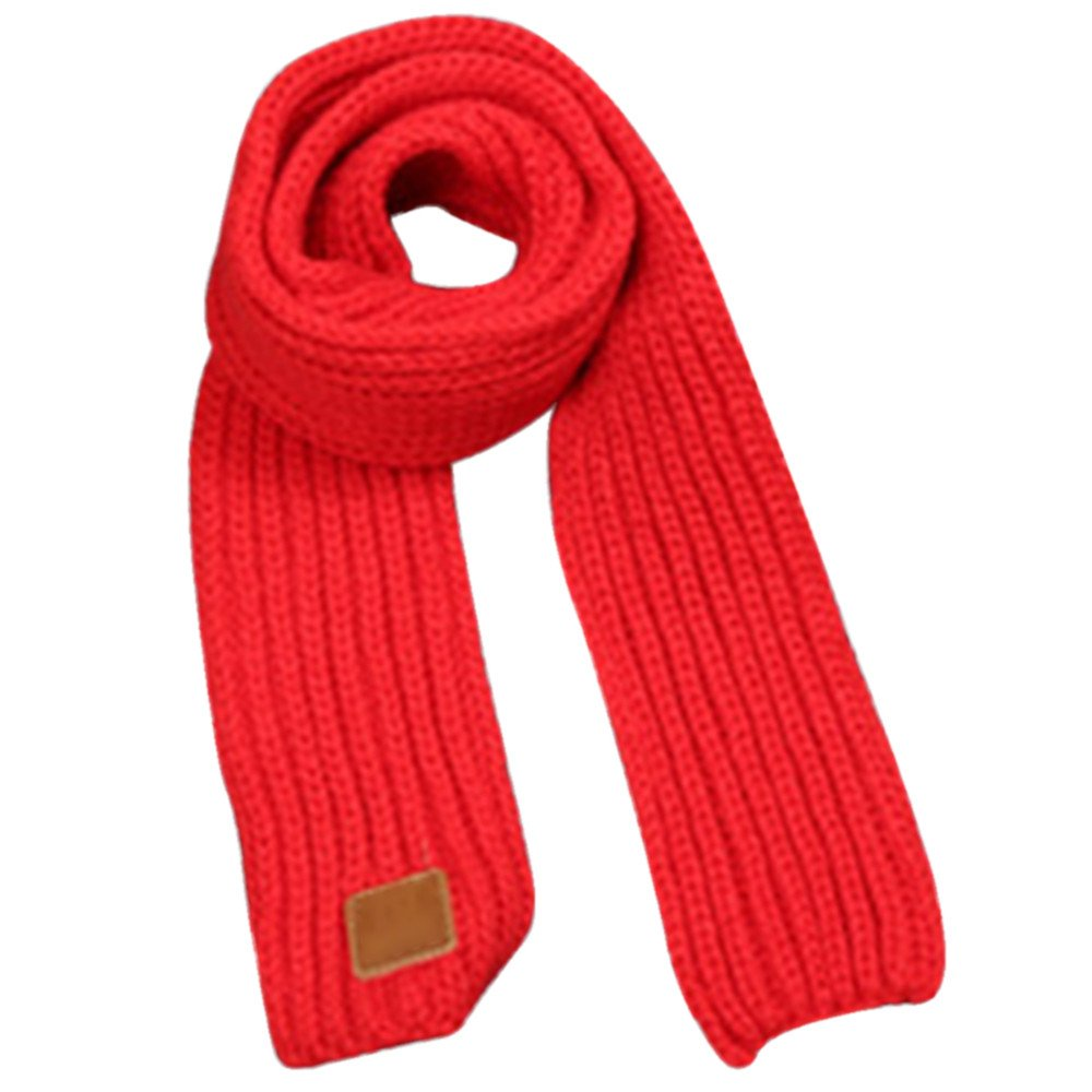 Kids Crochet Knit Scarves Solid Color Neckerchiefs Collar Neck Warmer Winter Neckerchiefs Toddler Keep Warm Collar Scarves Soft Circle Shawl Wrap Infinity Loop Scarves
