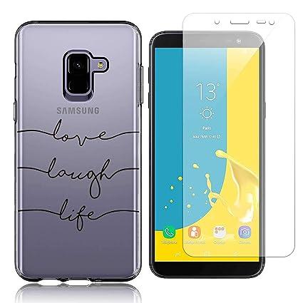 Funda Samsung Galaxy J6 Plus Test de Personalidad Suave TPU Silicona Anti-rasguños Protector Trasero Carcasa para Samsung Galaxy J6 Plus 2018 (6.0 ...