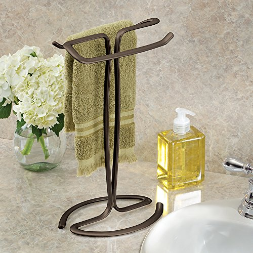 Interdesign axis free standing towel rack for bathroom - Free standing bathroom towel rack ...
