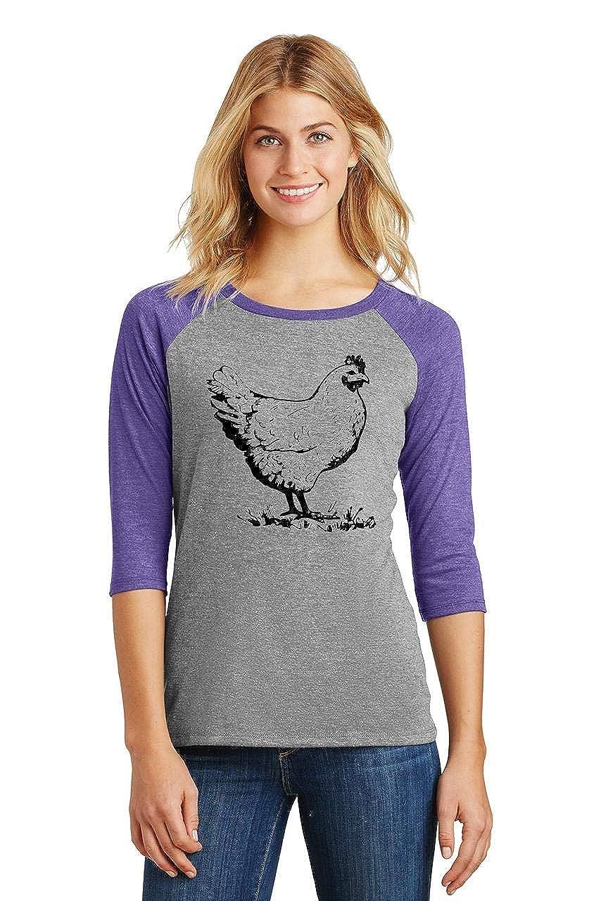 Amazon.com: Cómico camisa de mujer, divertido pollo playera ...