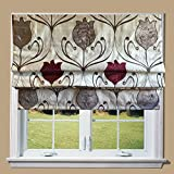 Wine Tulip Lined Roman Blind (5ft) by Barnes Textiles