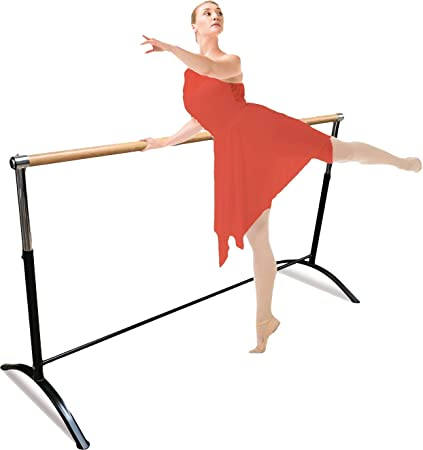 Pilates Single or Double Dance or Active Workouts Kids and Adults Artan Balance Ballet Barre Portable for Home or Studio Freestanding Adjustable Bar for Stretch