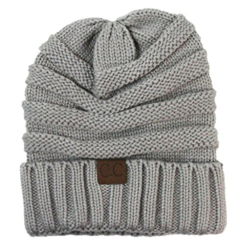 Wholesale Princess Women's Crochet CC Beanie - Light Gray