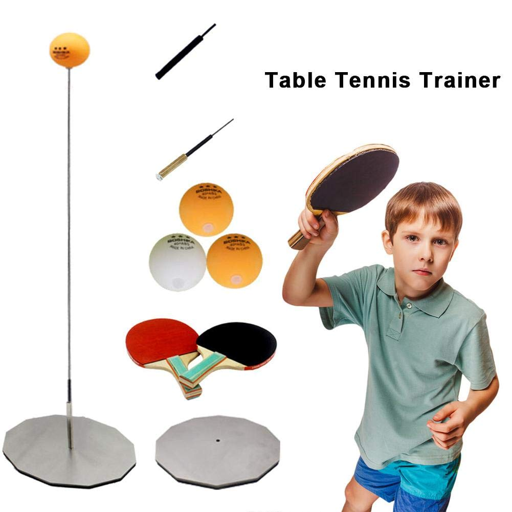 Red-eye Table Tennis Trainer Home and Office Leisure Decompression Sport with Elastic Soft Shaft Table Tennis Paddle Family Table Tennis Set for Indoor Or Outdoor Play by Red-eye