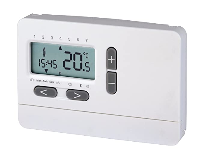 2-Draht-Uhrenthermostat Digital | Raum-Temperaturregelung | LCD ...