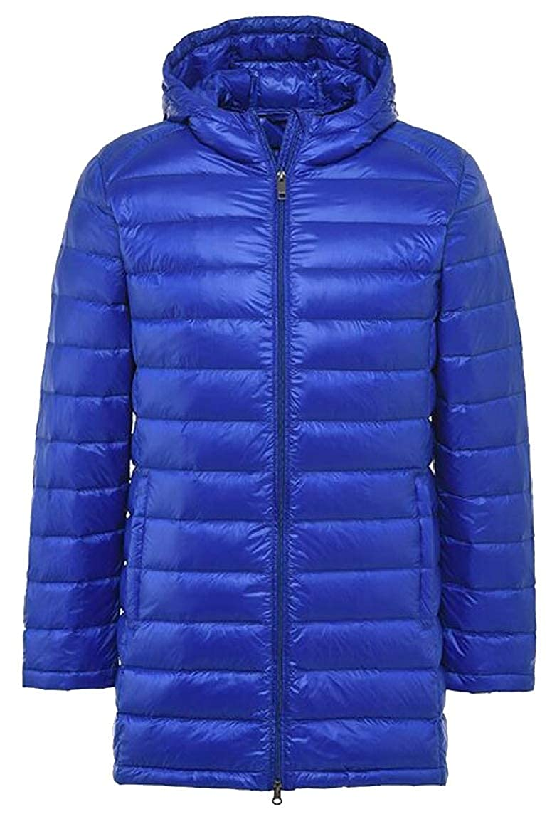 HTOOHTOOH Mens Down Coats Winter Hooded Down Puffer Jacket Padded Parka