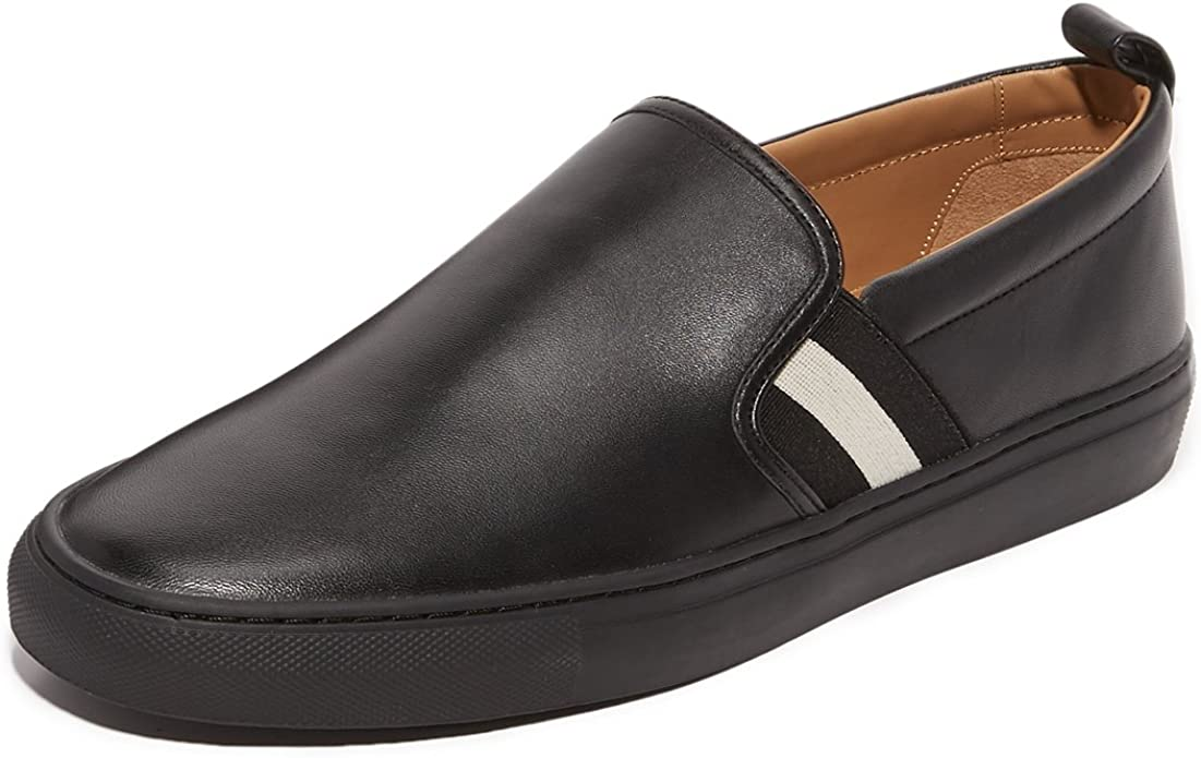 Inmigración Conciliador Absorber  Bally Slip On Herald Men - Leather (HERALD6198485) 8 UK Black: Amazon.co.uk:  Shoes & Bags