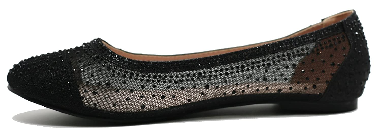 Walstar Shoes Women's Wedding Flats Comfort Ballet Flats Shoes Walstar B07DJY84H1 6 B(M) US|Black c7c0b4