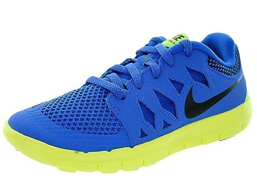 official photos 99260 5b3ab Nike Boy's Free 5 Running Shoe (PS) Blue/White/Metallic ...