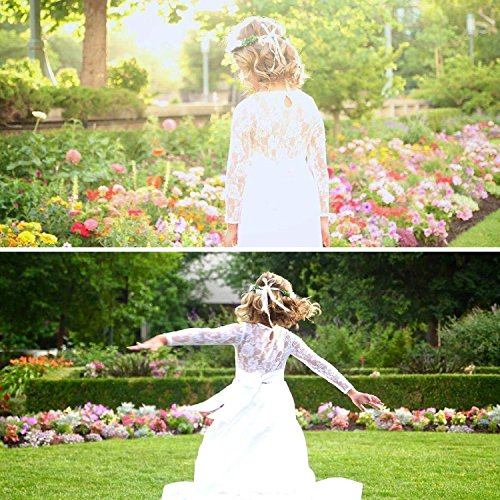 Carat-Fancy-Ivory-White-Lace-Boho-Rustic-Flower-Girl-Dress-2-12-Year-Old