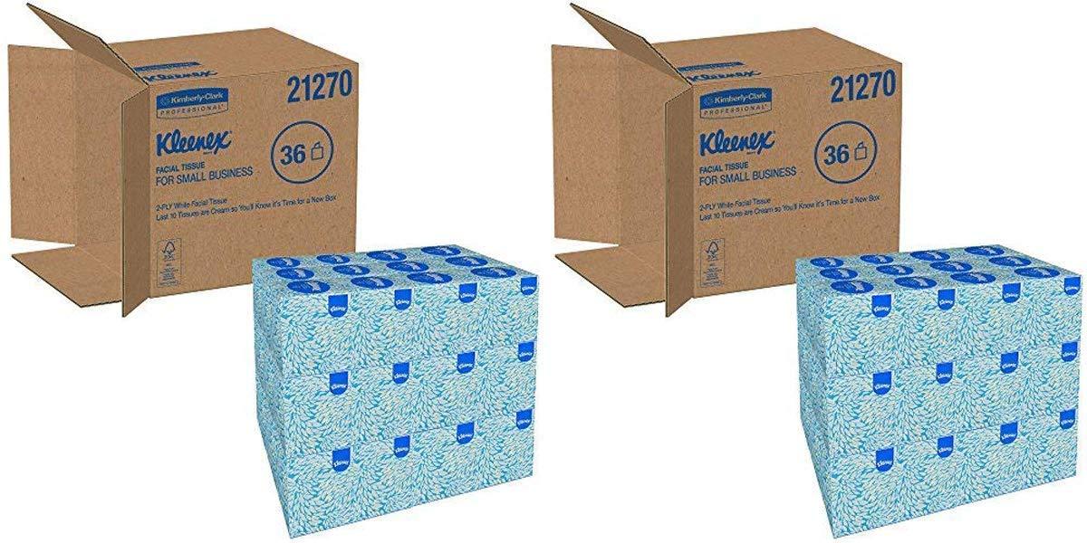 Kleenex IUYEHDUH 21270CT Boutique White Facial Tissue, 2-Ply, Pop-Up Box, 95 per Box 2 Cases