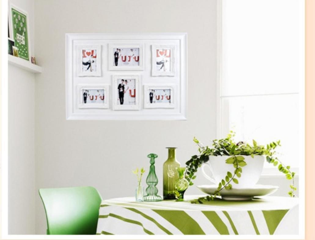 OOFYHOME Wand-hängender Collagen-Bilderrahmen, Sitze - 4x6 Zoll ...