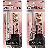 L'Oreal Paris Mascara para Pestanas Lash Paradise Negro A prueba de agua 2 pack