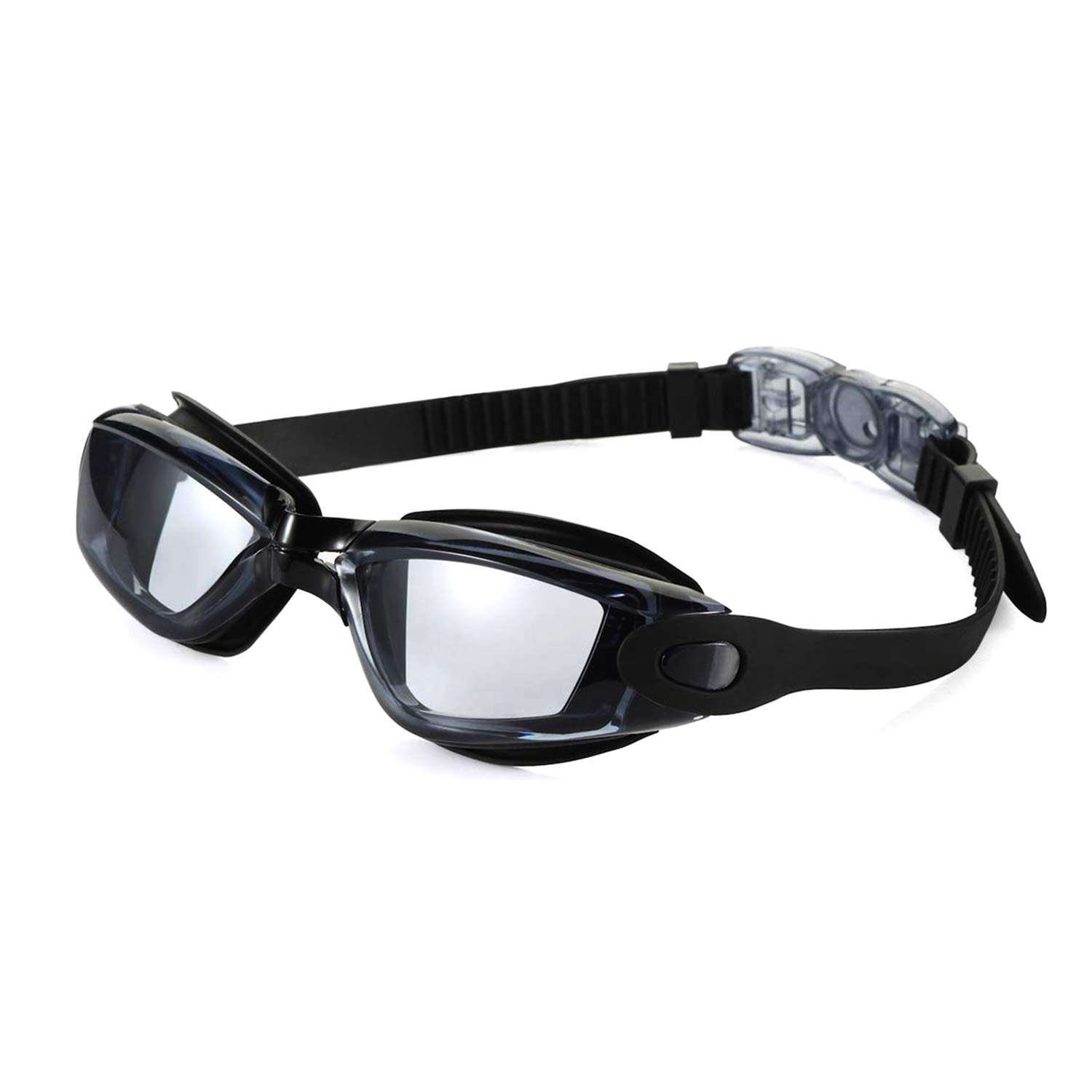 Swimming Goggles Adult, Swim Goggles Anti Fog No Leaking UV Protection with Wide View for Men Women