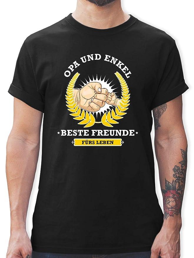 Opa /& Enkelin Freunde f/ürs Leben! Kurzarm Baby-Shirt f/ür Jungen und M/ädchen Partner-Look Familie Baby