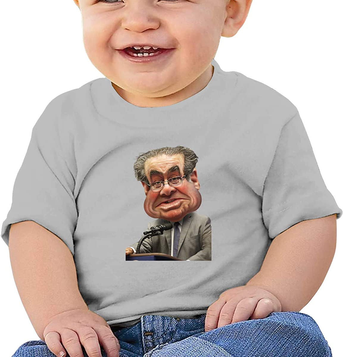 EVE JOHN Antonin Scalia Comic Tee Soft T Shirts for Baby Boy Black