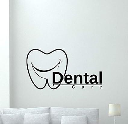 Amazon Com Dental Clinic Wall Decal Stomatology Dental Care Teeth Hospital Medicine Vinyl Sticker Office Wall Decor Wall Art Design Mural 53xvm Home Kitchen