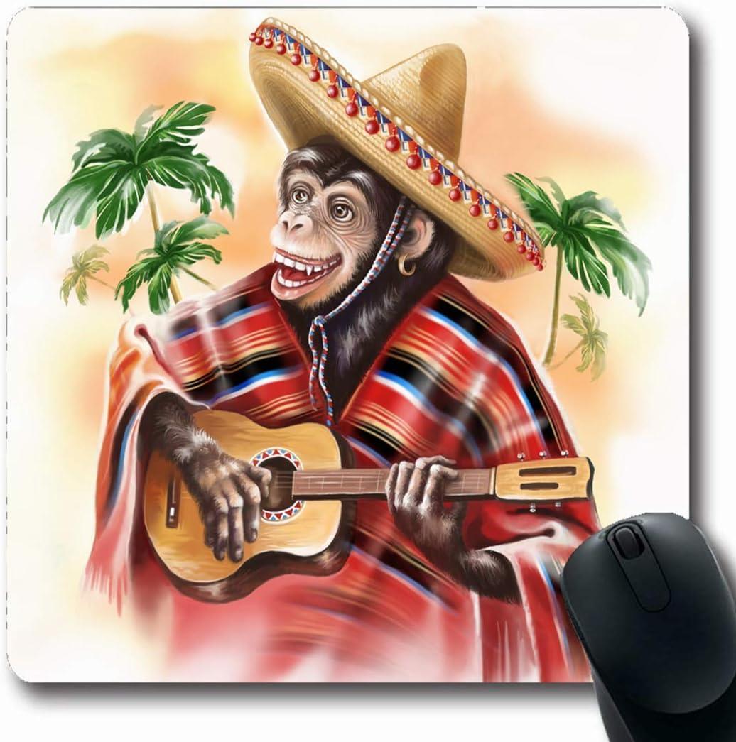 Luancrop Alfombrillas Palm Digital Divertido Mono Vestido Mexicano ...