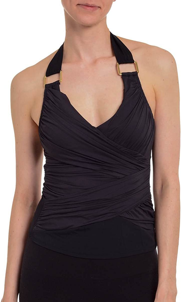 SPANX Whittle Waistline Draped Women's Tankini Swim Top Lycra Bathing Suit 2096 1339