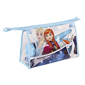 Set bolso neceser comedor Frozen Disney Sisters: toalla,cepillo,cepillo dientes,vaso: Amazon.es: Juguetes y juegos