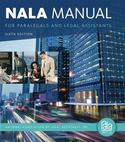 Nala Manual F/Paralegals+Legal Assist.