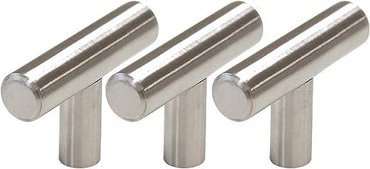 SATIN NICKEL 16 X KNOBS HANDLES FOR CABINET CUPBOARD DOORS 34mm DIA SCREWS