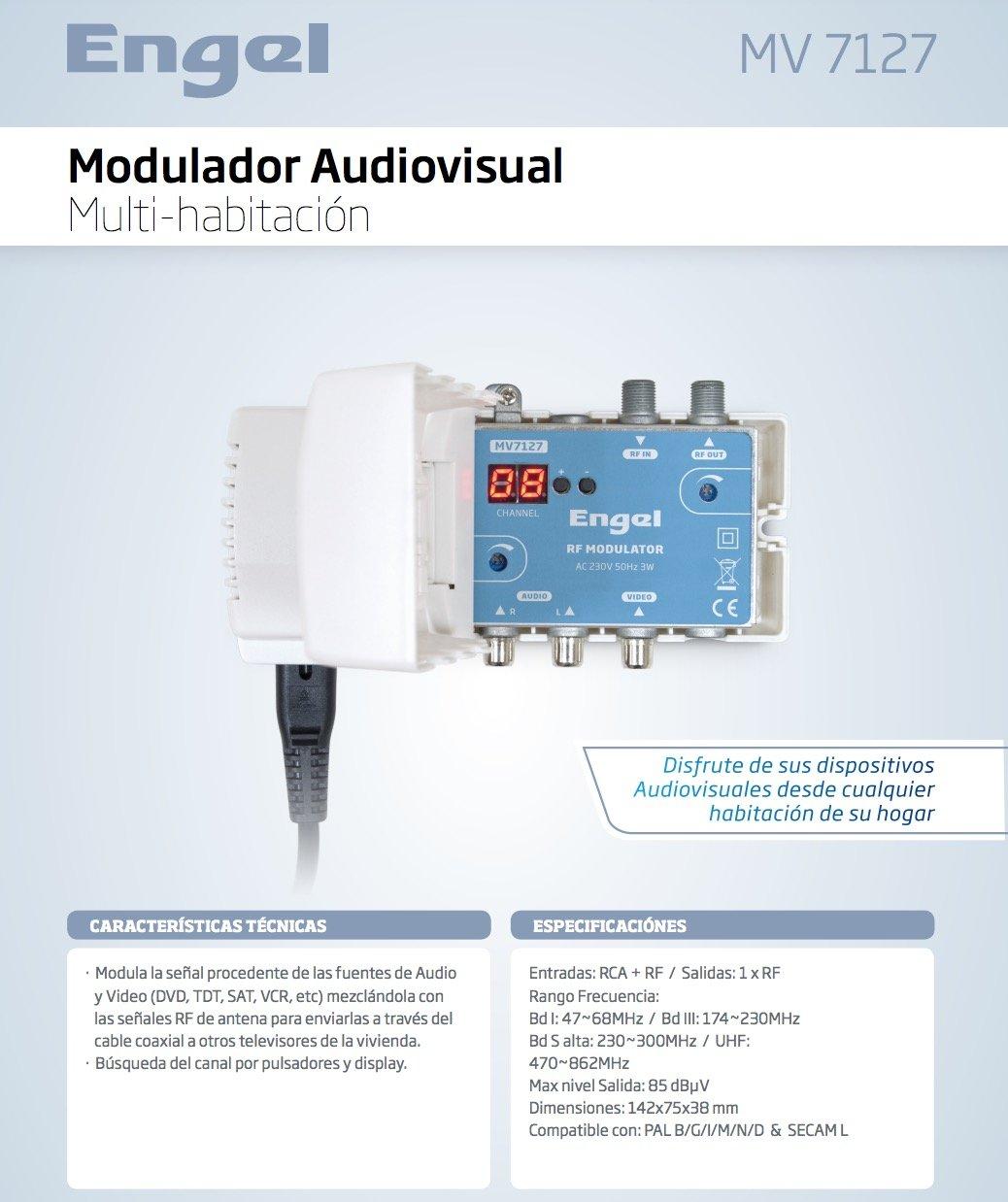 Modulador audio/video a RF, Estéreo, Salida VHF, + S Alta + UHF: Amazon.es: Electrónica