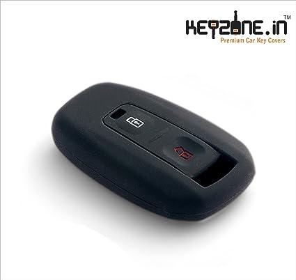 Keyzone Silicone remote Key Cover 2 button Black For Tata Indica Vista /  Manza