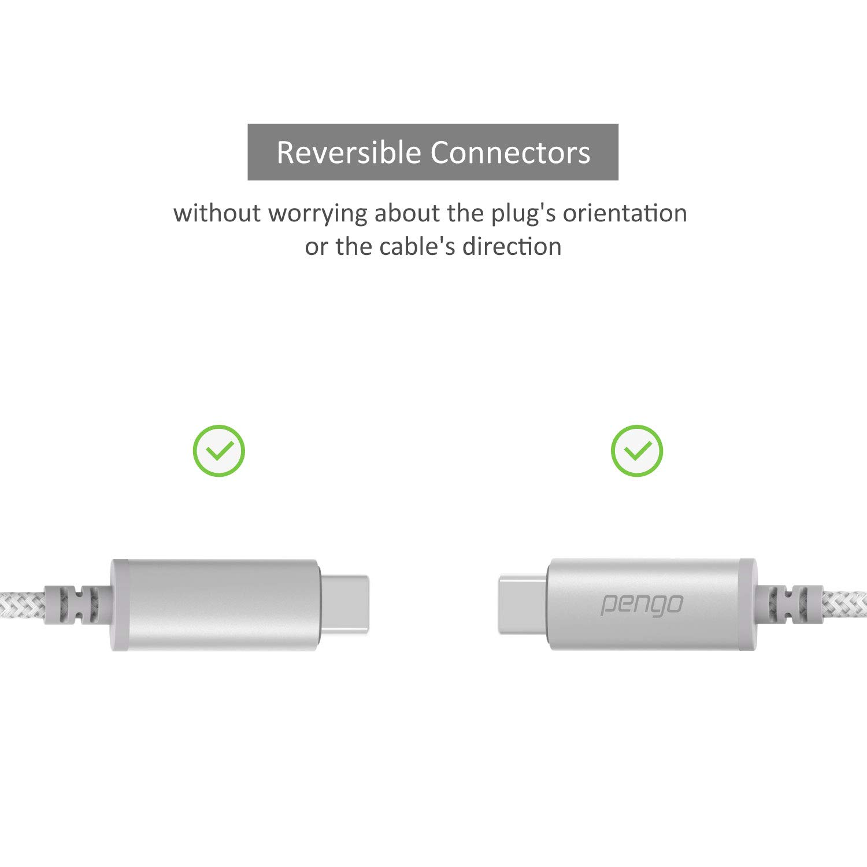 Soporte M/óviles Tipo-C como S9 Tipo C a Auriculares Jack USB-C DAC Aluminio-Nylon Pixel y mas Pengo Adaptador de Jack a USB-C a 3,5 mm Huawei P20 // P20 Pro//Mate 10 Pro//Mate 20 Pro