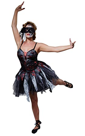 rubies official ladies dead ballerina black dress halloween zombie adult costume x small - Dead Ballerina Halloween Costume