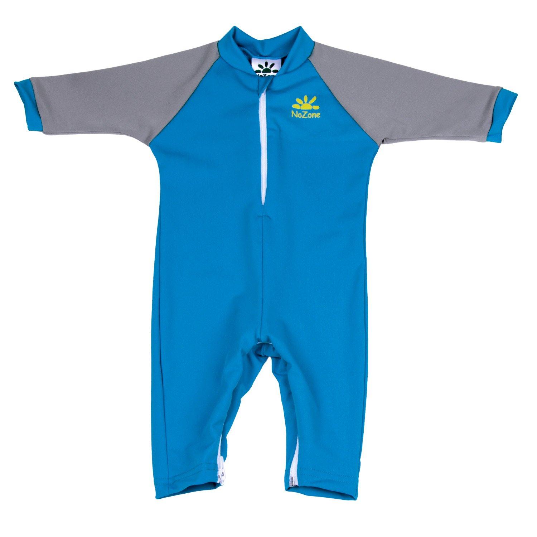 Nozone Fiji Sun Protective Baby Boy Swimsuit in Smurf/Titanium, 6-12 Months by Nozone