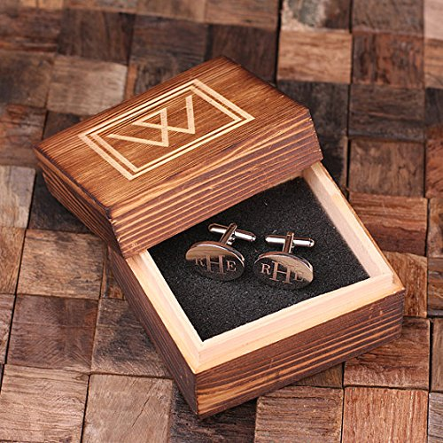 Personalized Engraved Cuff Links Classic (Engraved Personalized Cufflinks)
