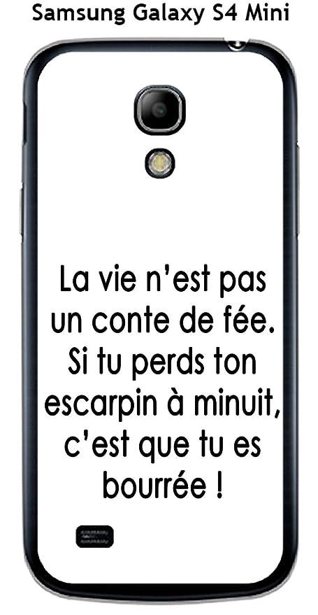 Carcasa Samsung Galaxy S4 Mini diseño con cita la vida no ...