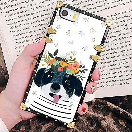 2012 Wreath - Cover Case Fit Apple iPhone SE (2016) iPhone 5S (2013) iPhone 5 (2012) 5.5in Dog with Wreath