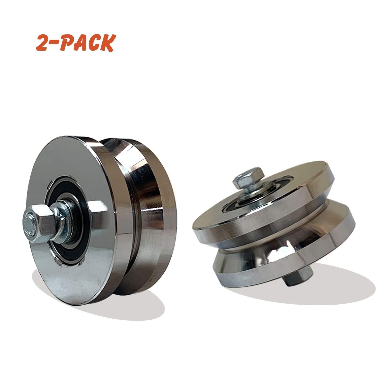 "4/"" Steel V Groove Wheel Set Of 2"