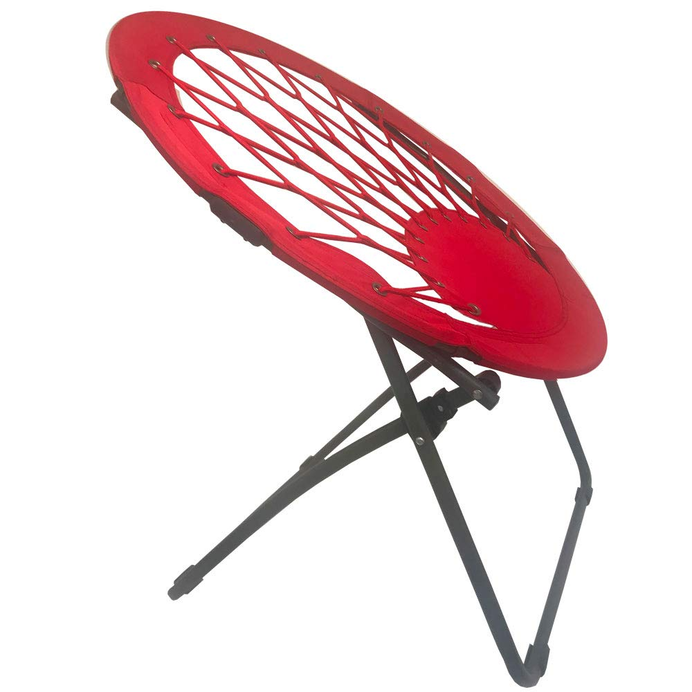 Impact Canopy Bungee Chair, Portable Folding Chair, Web, Red