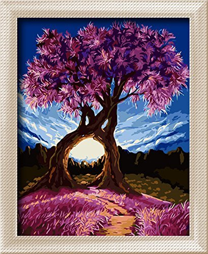 Romantic paint by number kits paint by number for adults for Pre printed canvas to paint for adults