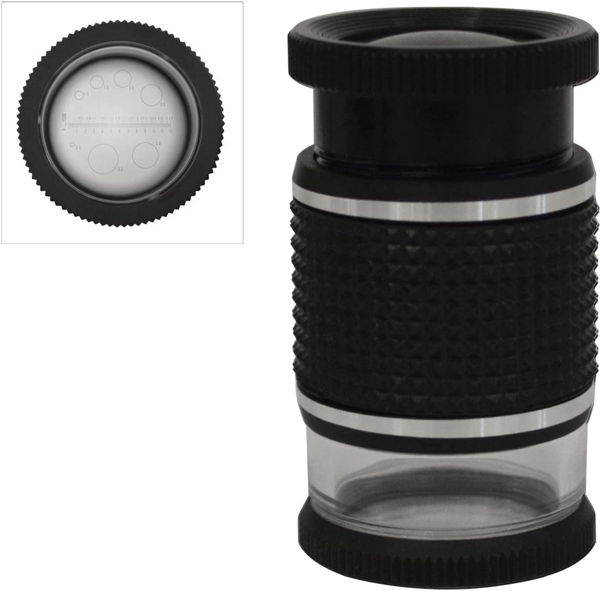 18 MM 10X Triplet Eye Loupe with Diamond Estimation Scale Jewelry Inspection Magnifying Loupe