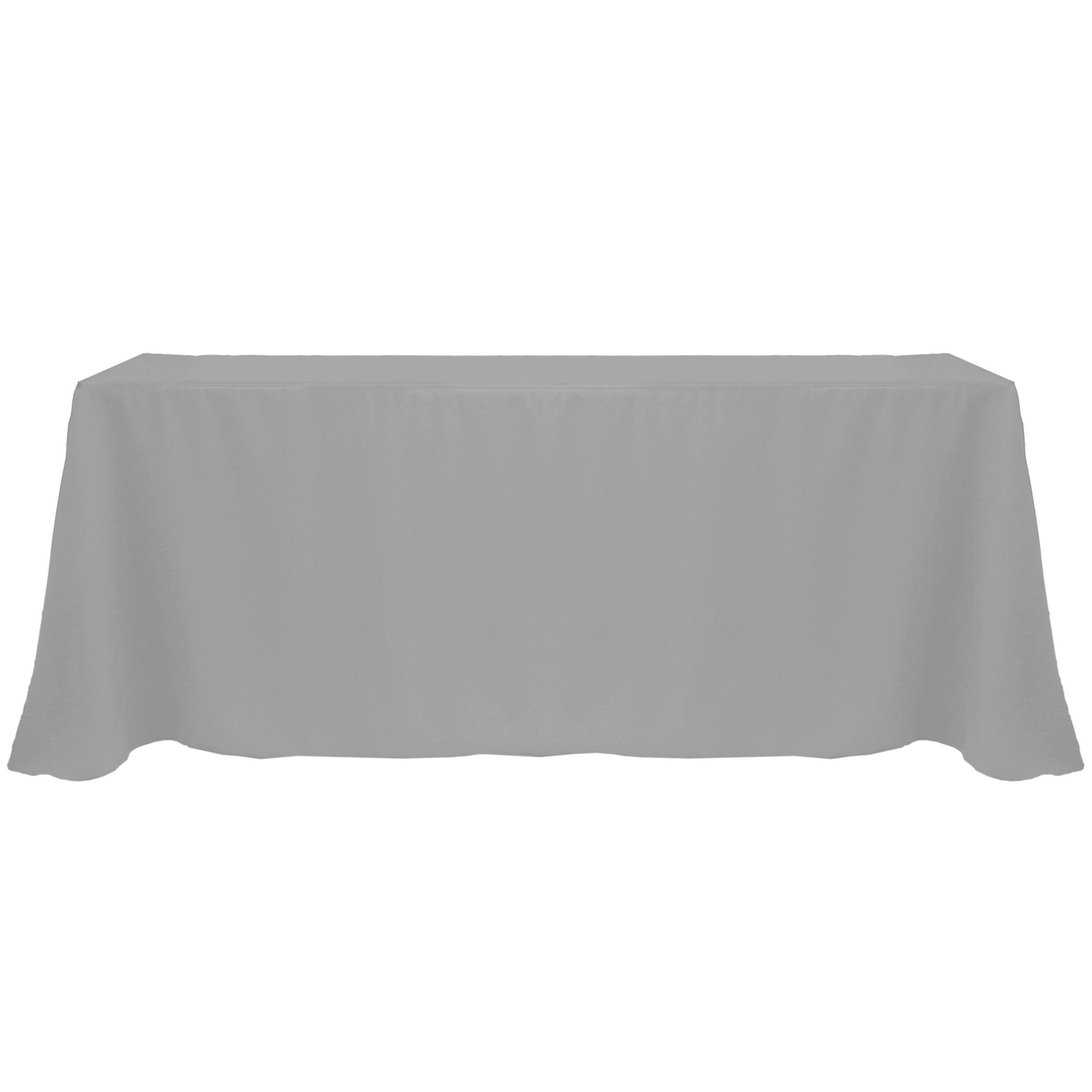Ultimate Textile (10 Pack) 90 x 132-Inch Rectangular Polyester Linen Tablecloth with Rounded Corners - for Wedding, Restaurant or Banquet use, Charcoal Grey