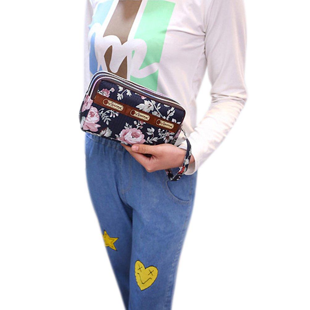 Bags us Wallet Zipper Long Wallet Coin Bag Purse Three Layer Wristlet Handbag Clutch Bags Tote Phone