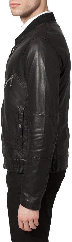 brandMe Mens Genuine Leather Pure Lambskin Biker Jacket MM373